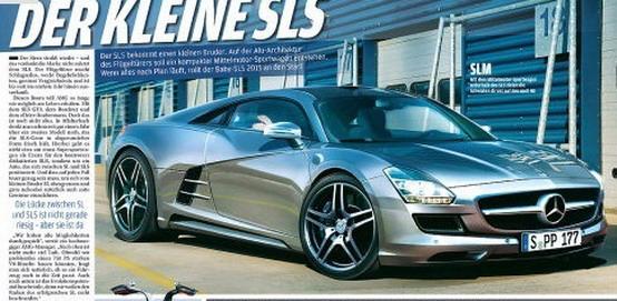 Mercedes SLS AMG: la versione piccola sarà ibrida