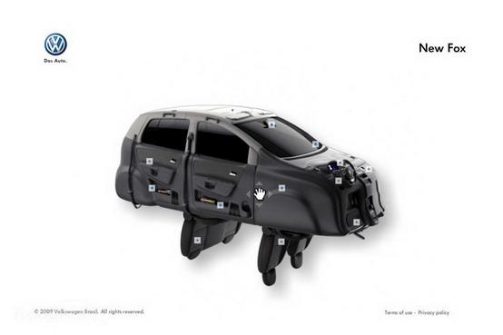 Volkswagen Fox, rivoltata come un calzino per pubblicità
