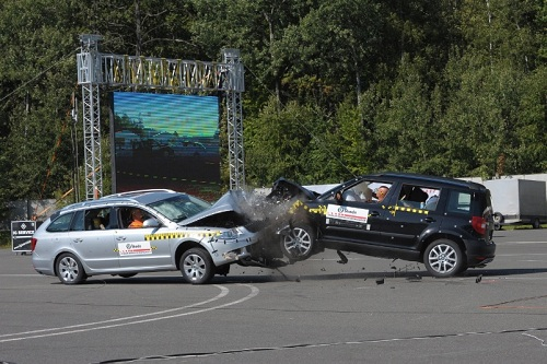 Škoda, prova di sicurezza per Superb Wagon e Yeti