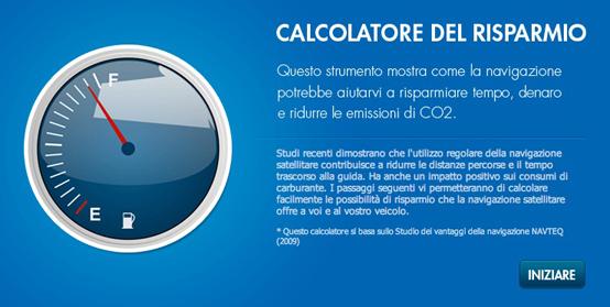 Navteq, lanciato il calcolatore di risparmio sul sito ufficiale