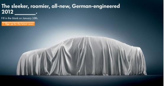 Volkswagen NMS, nuovo teaser dell'erede della Passat che arriverà a Detroit