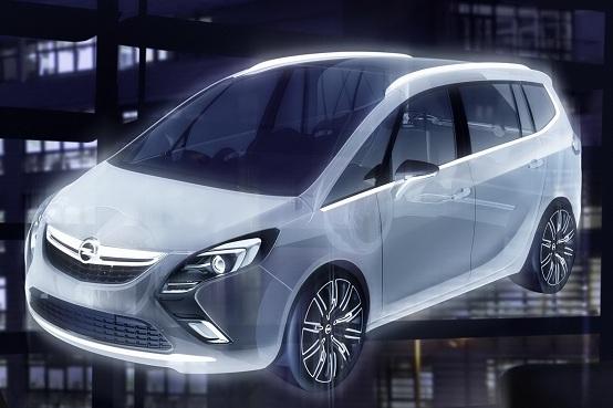 Opel Zafira Tourer Concept al Salone di Ginevra 2011