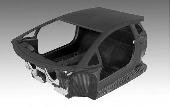 Lamborghini Aventador LP 700-4, la monoscocca in fibra di carbonio
