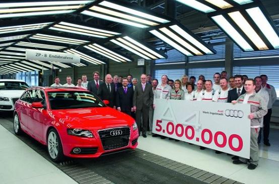 Audi A4, prodotti cinque milioni di esemplari