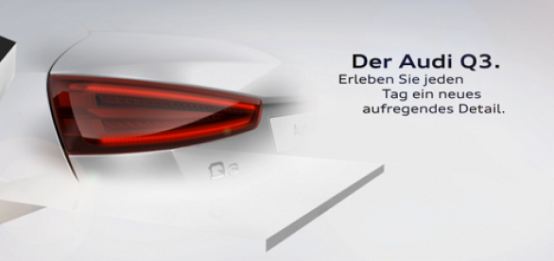 Salone di Shanghai 2011: Audi Q3, nuovi teaser ufficiali del SUV