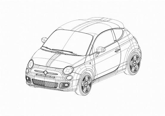 Fiat 500 Coupé Zagato bozzetti