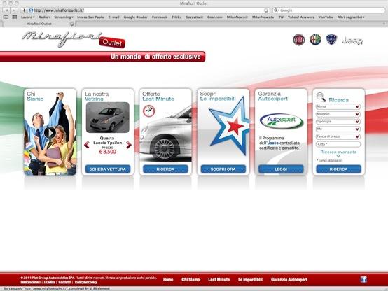Fiat, Lancia, Alfa Romeo e Jeep in offerta sul portale Mirafiori Outlet