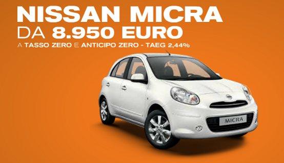 Nissan Micra da 8.950 €. Fino a giugno