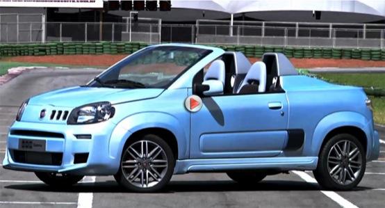 Fiat Uno Cabrio, il prototipo filmato su strada