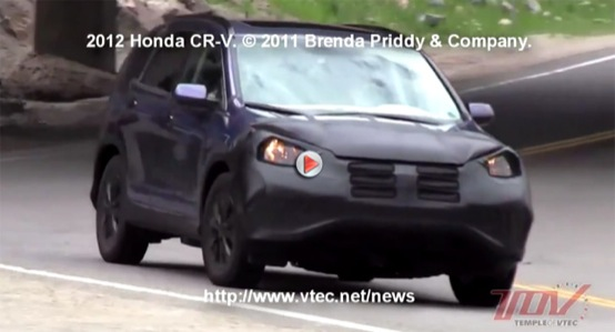 Honda CR-V 2012, video spia del prototipo integro
