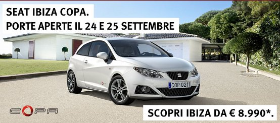 Seat Ibiza Copa. Porte aperte il 24 e 25 settembre