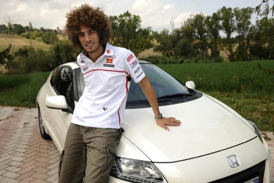 Honda CR-Z: intervista doppia tra Marco Simoncelli e Marco Simoncelli