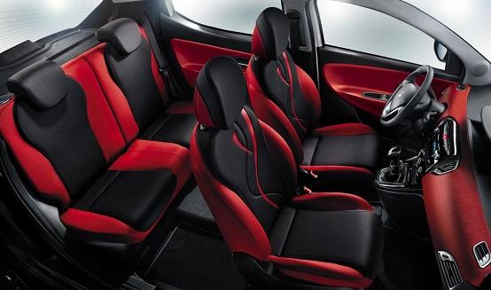 Lancia ypsilon black red for Interno ypsilon