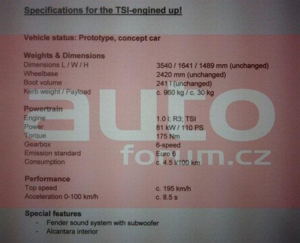 Volkswagen GT up!, nuovi dettagli sulla citycar sportiva