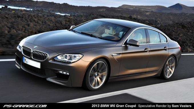 BMW M6 Gran Coupé, render della sportiva tedesca a quattro porte
