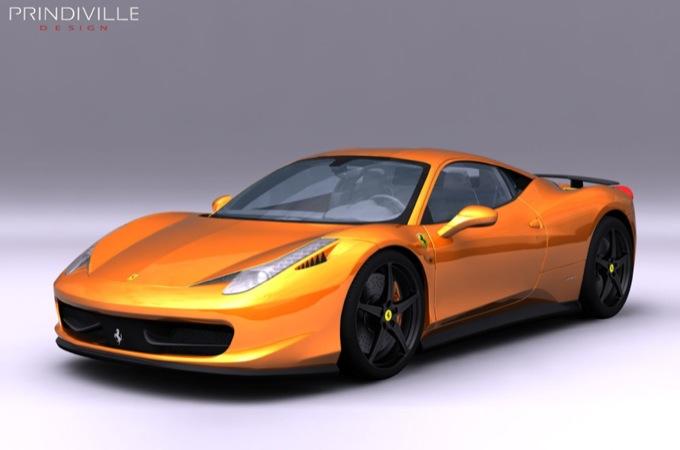 Ferrari 458 Italia by Prindiville Design, il lato oscuro della berlinetta modenese