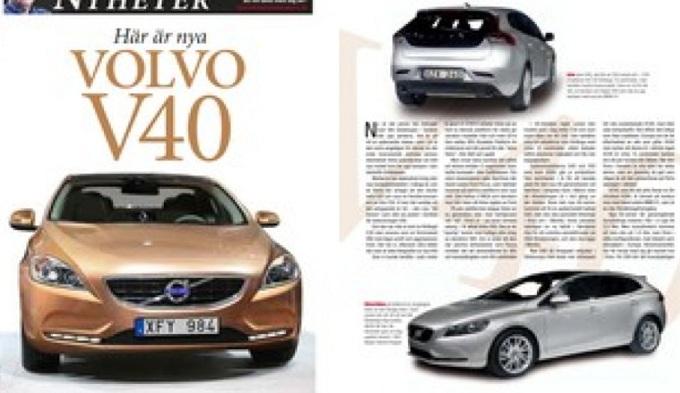 Volvo V40 prime immagini