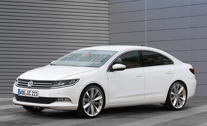 Volkswagen Golf CC, rendering della coupé a quattro porte