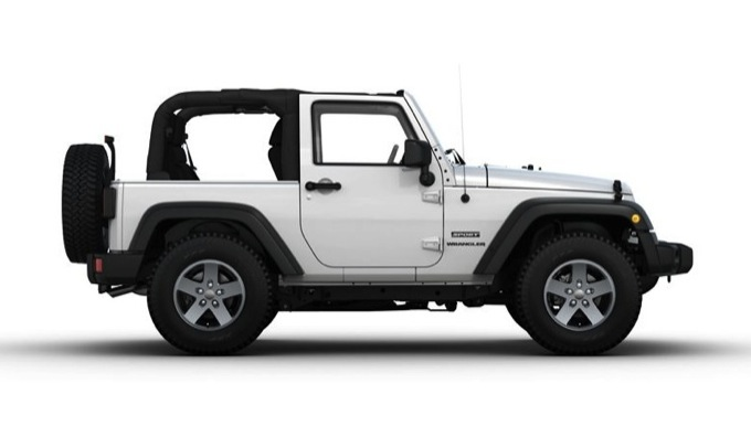 Jeep Wrangler Cabrio, versione esclusiva solo per l'Italia