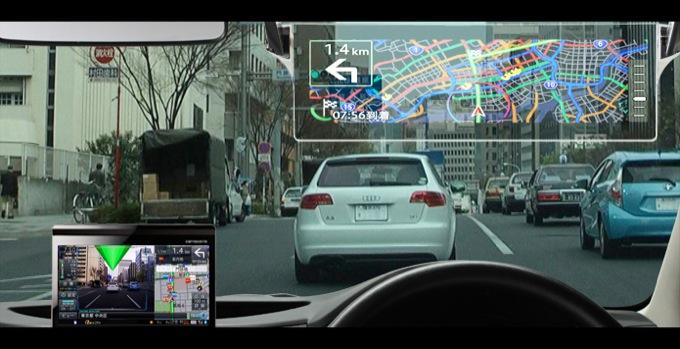 Pioneer Cyber Navi, il navigatore GPS con le indicazioni sul parabrezza