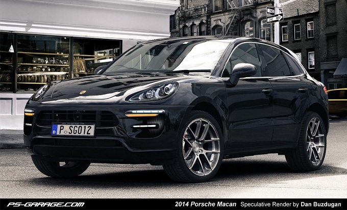 porsche macan un rendering per immaginare il nuovo suv medio. Black Bedroom Furniture Sets. Home Design Ideas