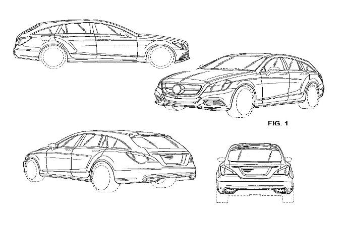 Mercedes CLS Shooting Brake, i bozzetti svelano la station wagon di Stoccarda