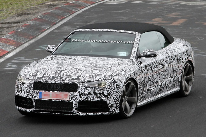 Audi RS5 Cabriolet, continuano i test in pista