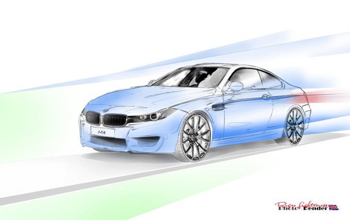 BMW M4 Coupé, render dell'erede dell'attuale M3