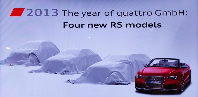 Audi, nuovi modelli RS nel 2013