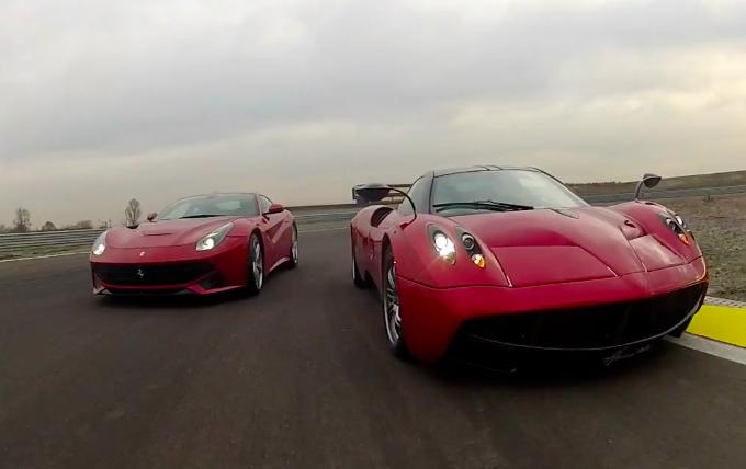 Ferrari F12Berlinetta vs Pagani Huayra, è tempo di derby