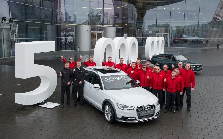 Audi, prodotte 5 milioni di Quattro