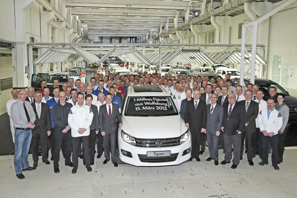 Volkswagen Tiguan, un milione di esemplari prodotti a Wolfsburg