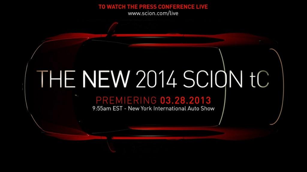Scion tC 2014 in anteprima mondiale al Salone di New York