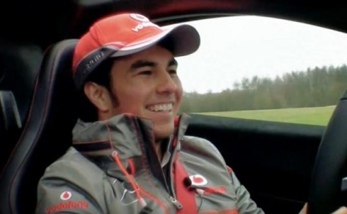 McLaren P1, test drive di Sergio Perez