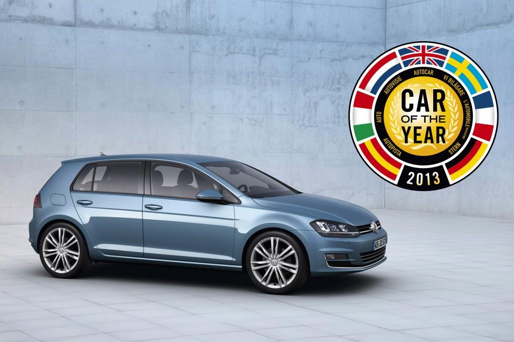 """Volkswagen Golf VII eletta """"Auto dell'Anno 2013"""""""