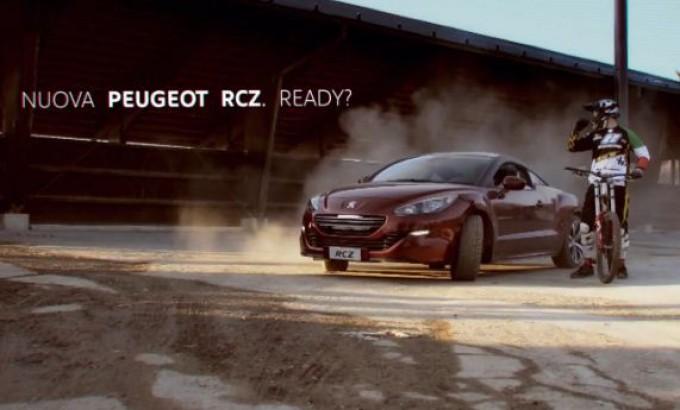 Peugeot RCZ vs Downhill, sfida spettacolare