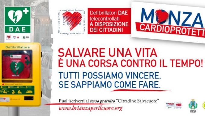 Monza installa 13 defibrillatori nelle strade per il primo soccorso