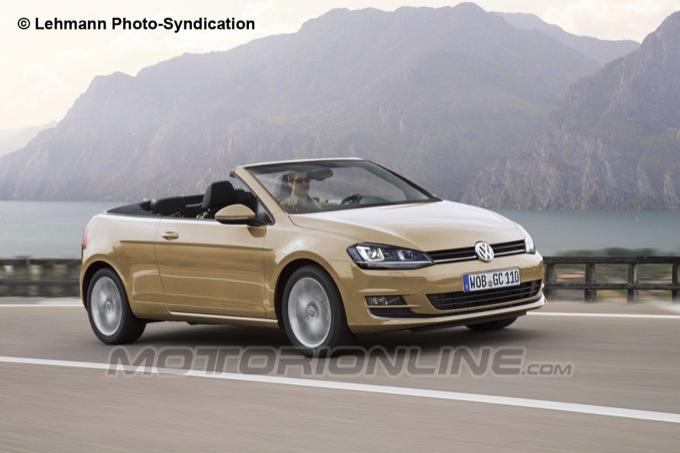 Volkswagen Golf Cabrio 2014, anteprima rendering della scoperta di Wolfsburg