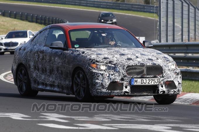 BMW Serie 2 Coupé, video spia dal Nürburgring per nuovi giri di test