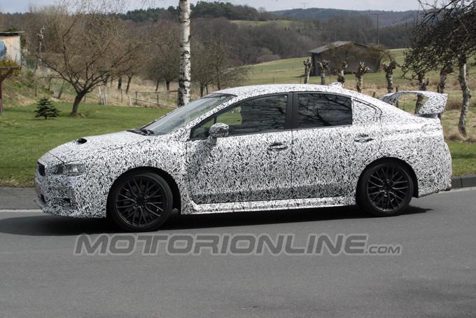 Subaru Impreza WRX STi, all'inseguimento del prototipo del modello di serie
