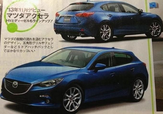 Mazda 3, è lei nella foto apparsa su una rivista giapponese?