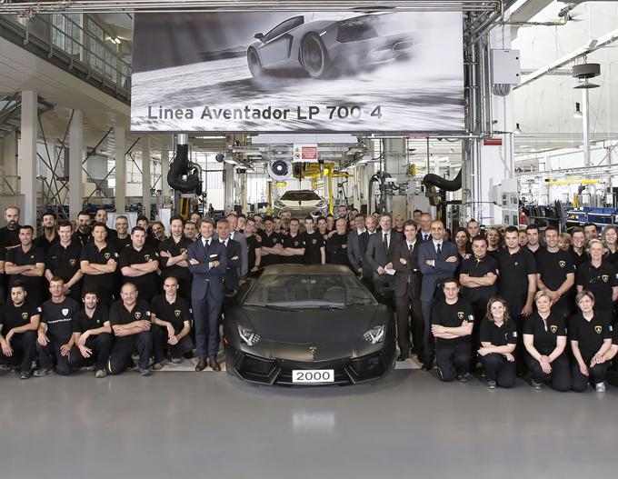 Lamborghini Aventador, prodotto il 2.000° esemplare della supersportiva italiana