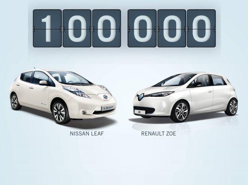 Renault-Nissan, venduti 100.000 veicoli elettrici