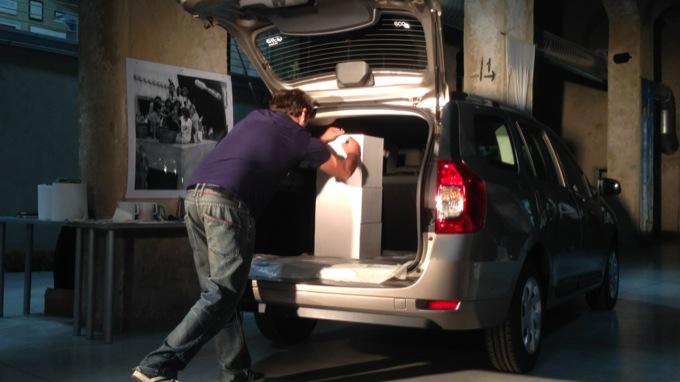 Dacia Logan MCV, un grande spazio artistico