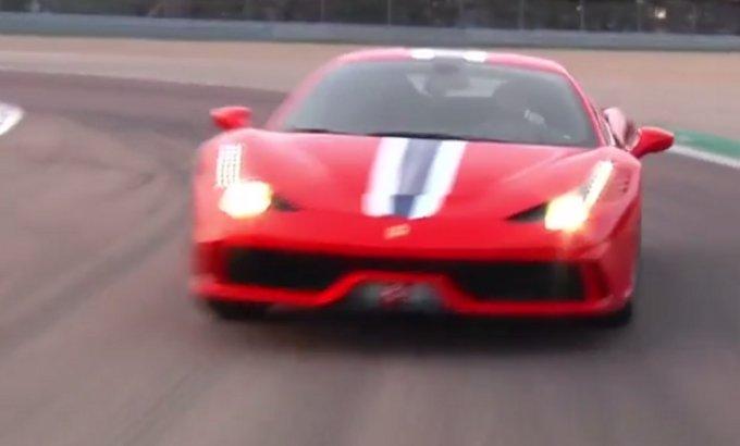 Ferrari 458 Speciale sul circuito di Fiorano