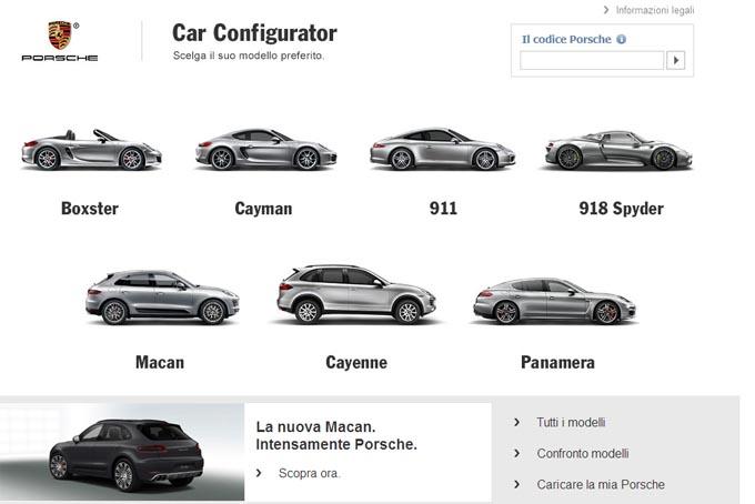 Porsche Macan: attivo il configuratore online per il suv compatto