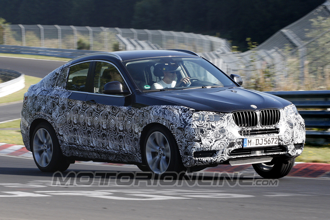 BMW X4 MY 2014, video spia del modello di serie attendendo Detroit