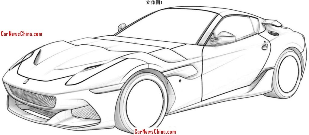 Cars Sketch Drawing as well  also Ferrari Sp Arya Trapela Limmagine Del Brevetto moreover 2017 Ford F 150 Raptor further Cool Car Coloring Pages. on muscle car drawings side view