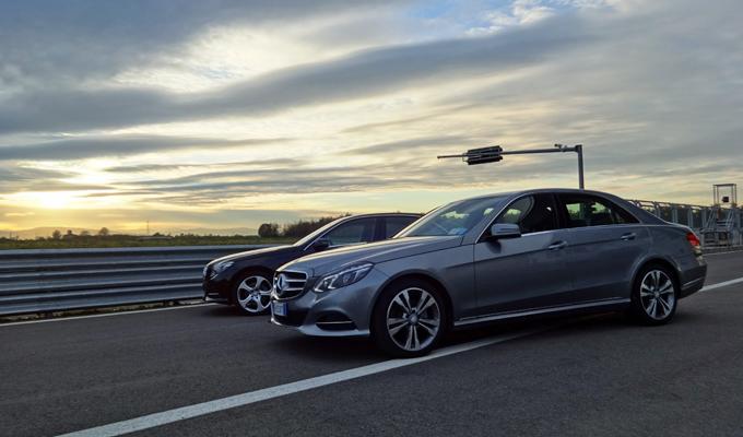 Mercedes Classe E BlueTEC Hybrid, primo contatto all'Autodromo di Modena
