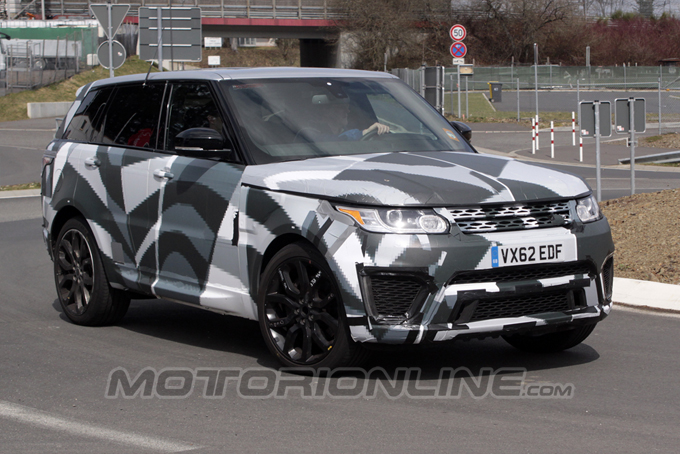 Range Rover Sport RS MY 2014, il prototipo si esibisce in un ultimo video spia